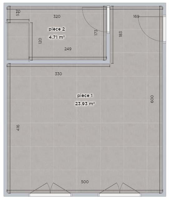 Exemple de plan métré vide