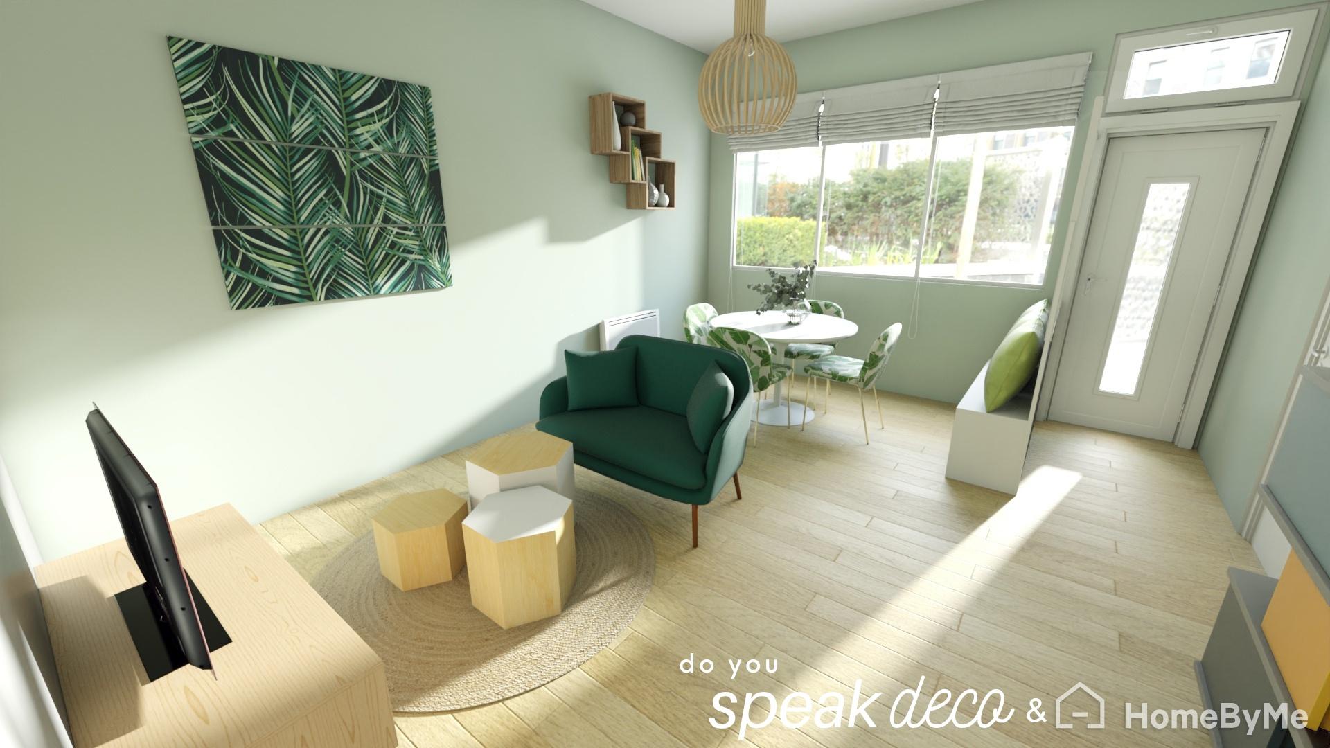 Projet de réaménagement 3D d'un séjour